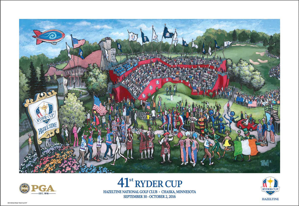 Official PGA Ryder Cup Poster 2016 by Michael Birawer