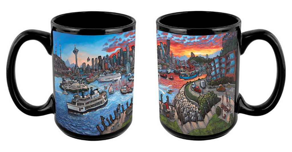 """View from West Seattle"" Mug"