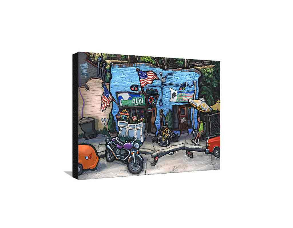 Alki Tavern Medium Canvas