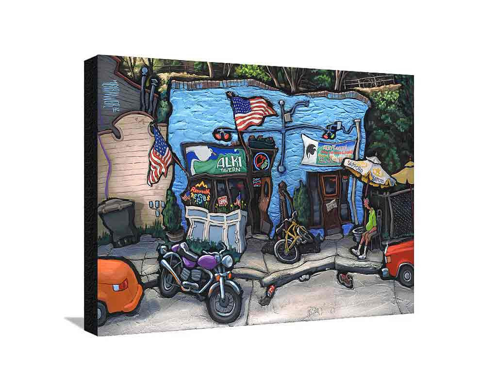 Alki Tavern Large Canvas