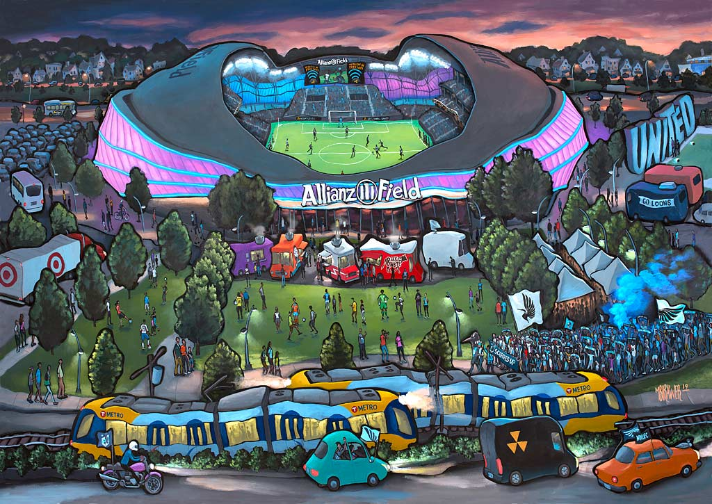 Allianz Field - Home of Minnesota United FC Original Painting