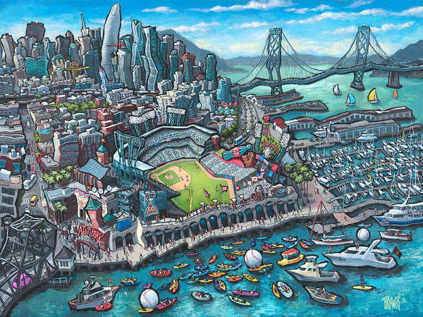 AT&T Park - San Francisco Original Painting