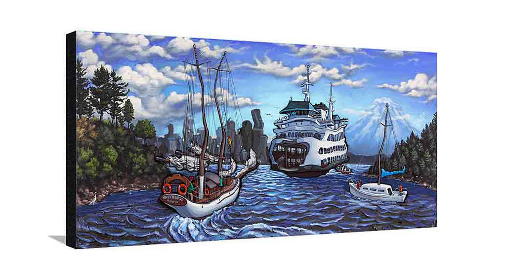 Bainbridge Island Large Canvas