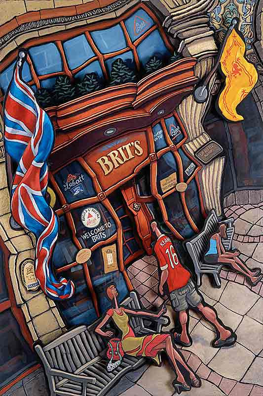 Brit's Pub Original Painting