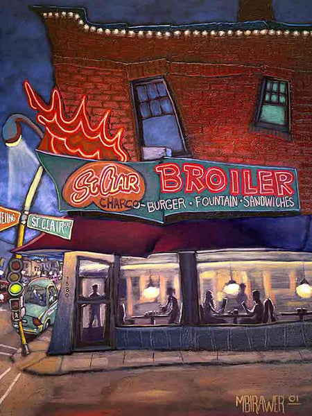 St. Clair Broiler Original Painting