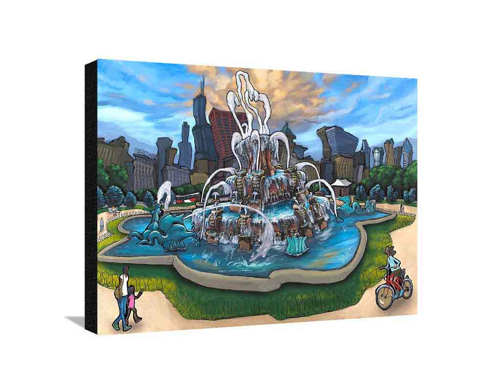 Buckingham Fountain Large Canvas