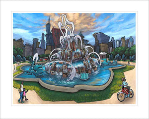 Buckingham Fountain Small Canvas