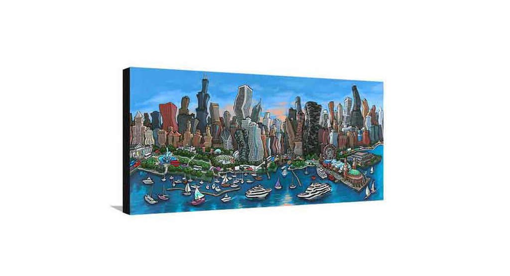 Chicago Skyline Medium Canvas
