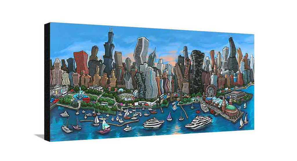 Chicago Skyline Large Canvas