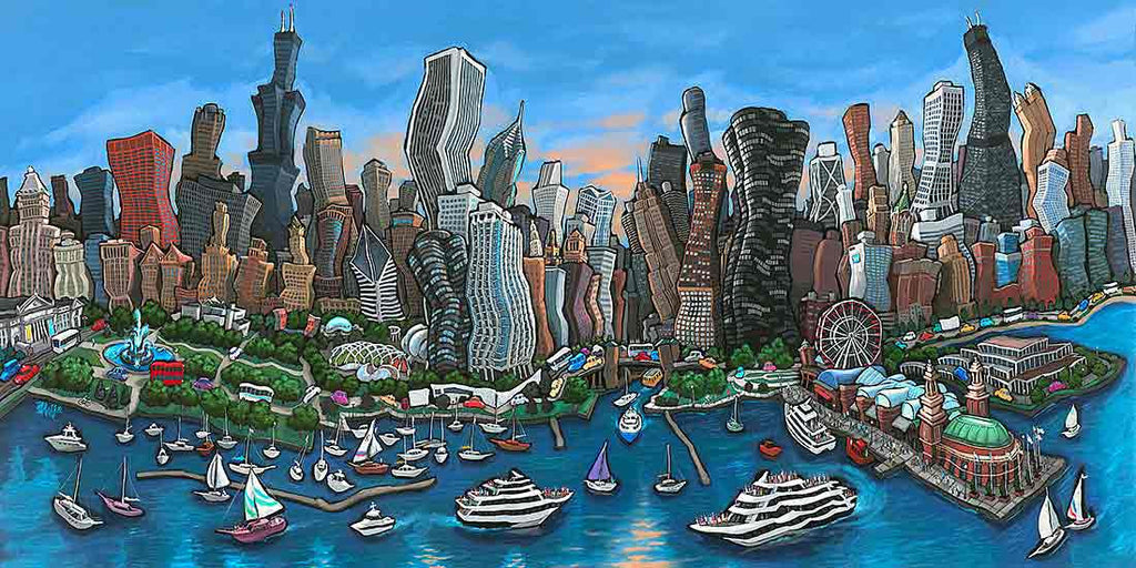 Chicago Skyline Original Painting