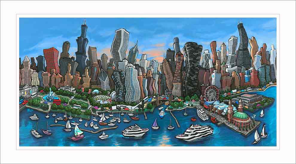 Chicago Skyline Small Canvas