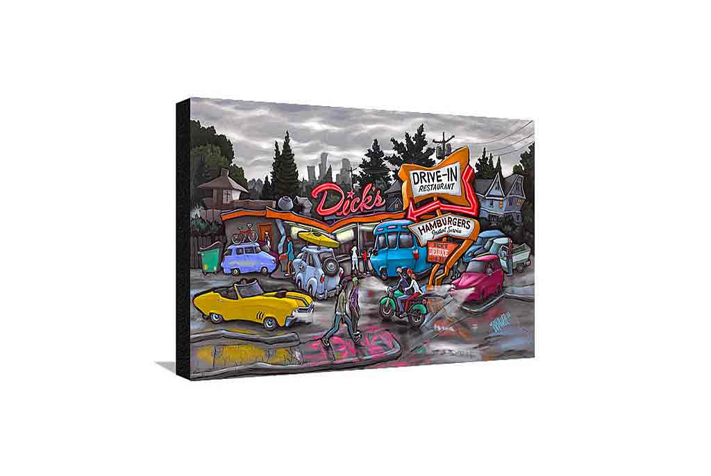 Dick's Drive-In Medium Canvas