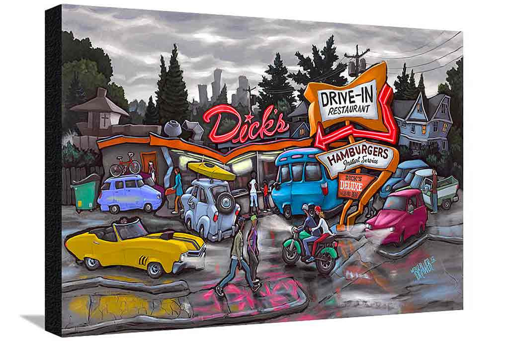Dick's Drive-In XL Canvas