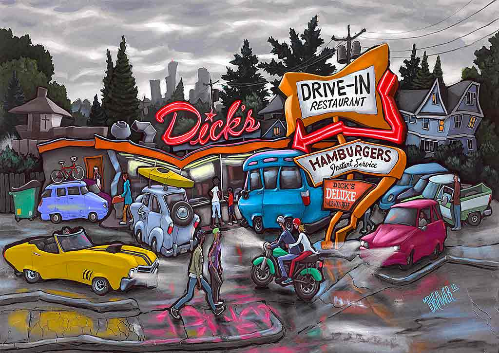 Dick's Drive-In Original Painting