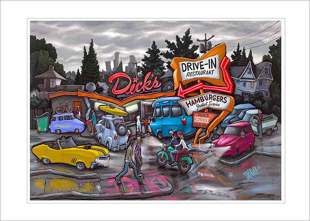 Dick's Drive-In Small Canvas