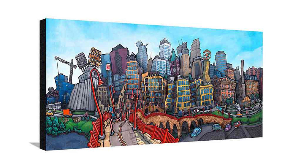 Downtown Minneapolis Large Canvas