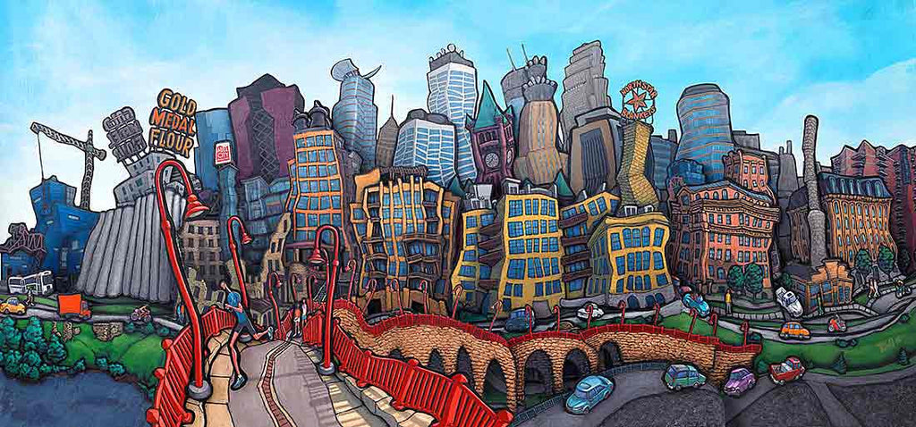 Downtown Minneapolis Original Painting