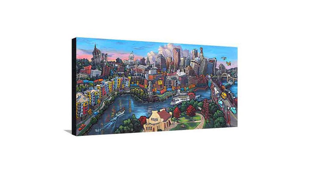Downtown Saint Paul Medium Canvas