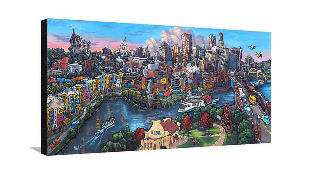 Downtown Saint Paul Large Canvas