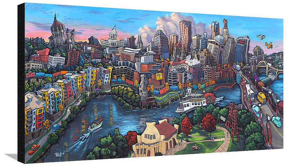 Downtown Saint Paul XL Canvas