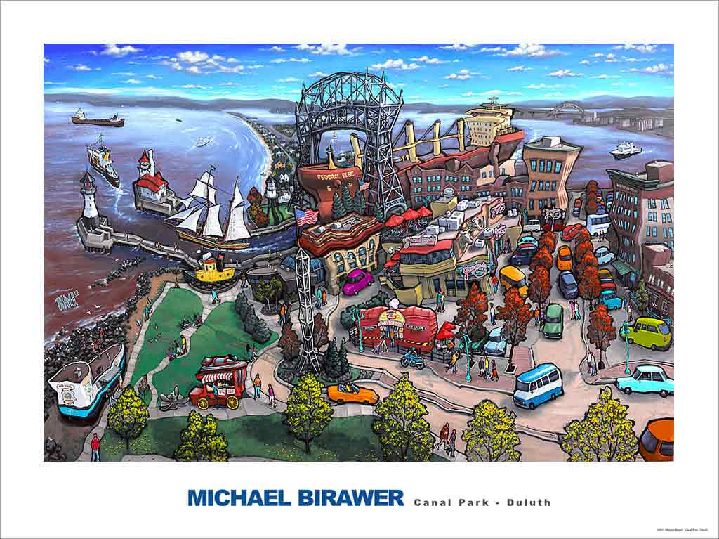 Canal Park Duluth Poster