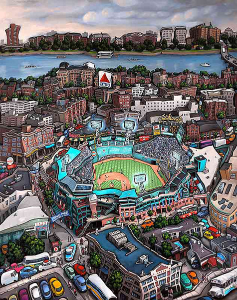 Fenway Park Boston Original Painting