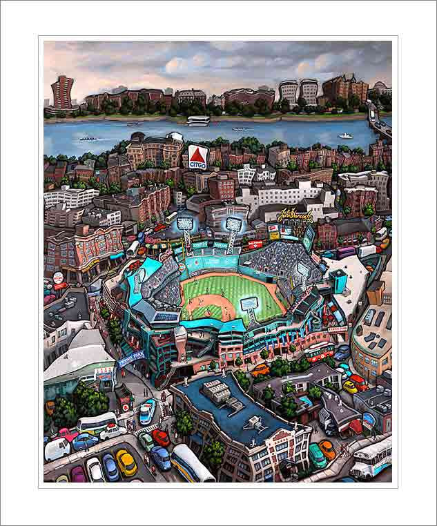 Fenway Park Boston Small Canvas