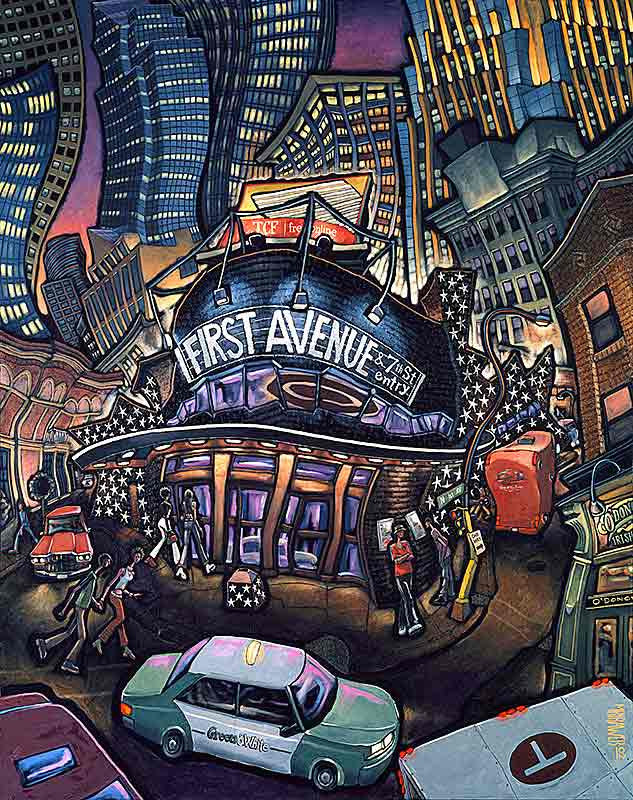 First Avenue Original Painting