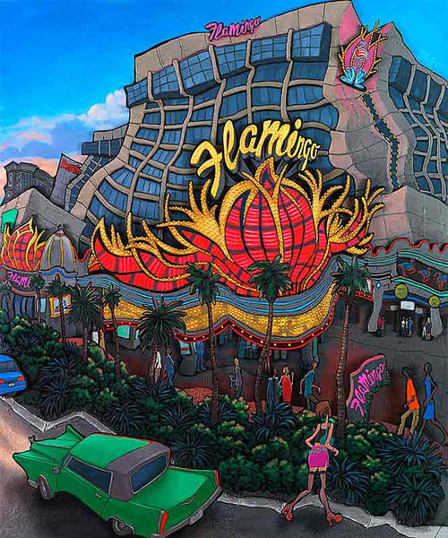 Flamingo Las Vegas Original Painting