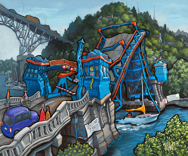 Fremont Bridge Original Painting