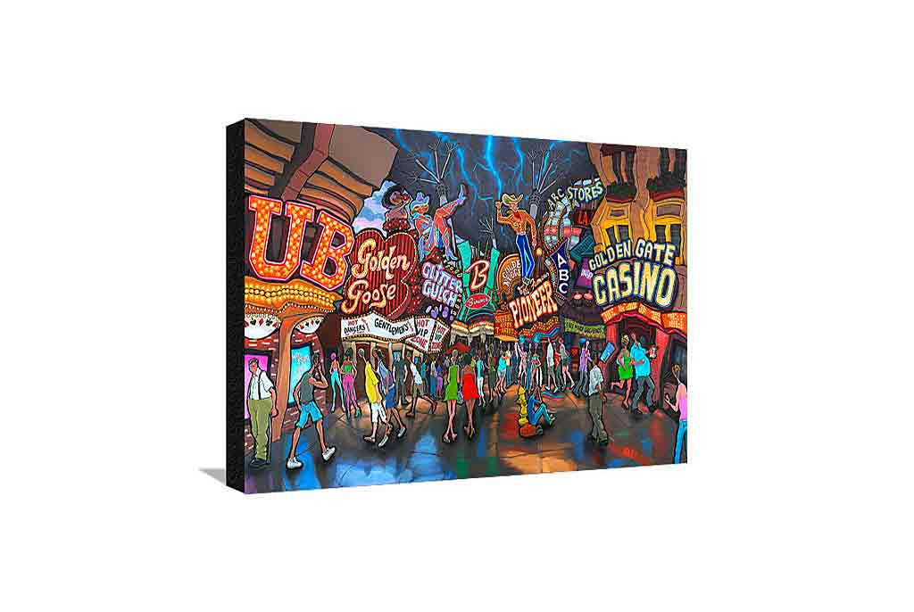 Fremont Street Las Vegas Medium Canvas