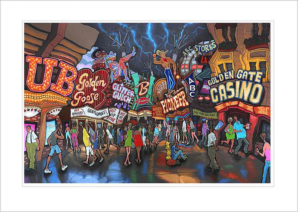 Fremont Street Las Vegas Small Canvas
