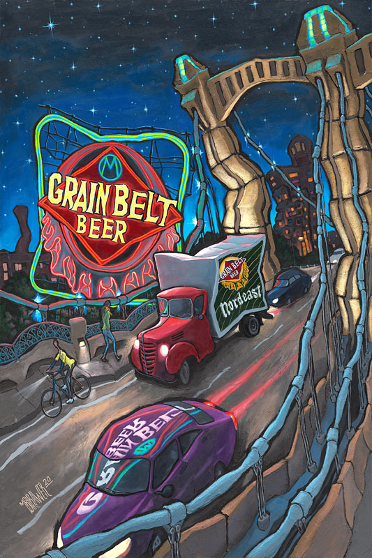 Grain Belt Beer Sign Original Painting