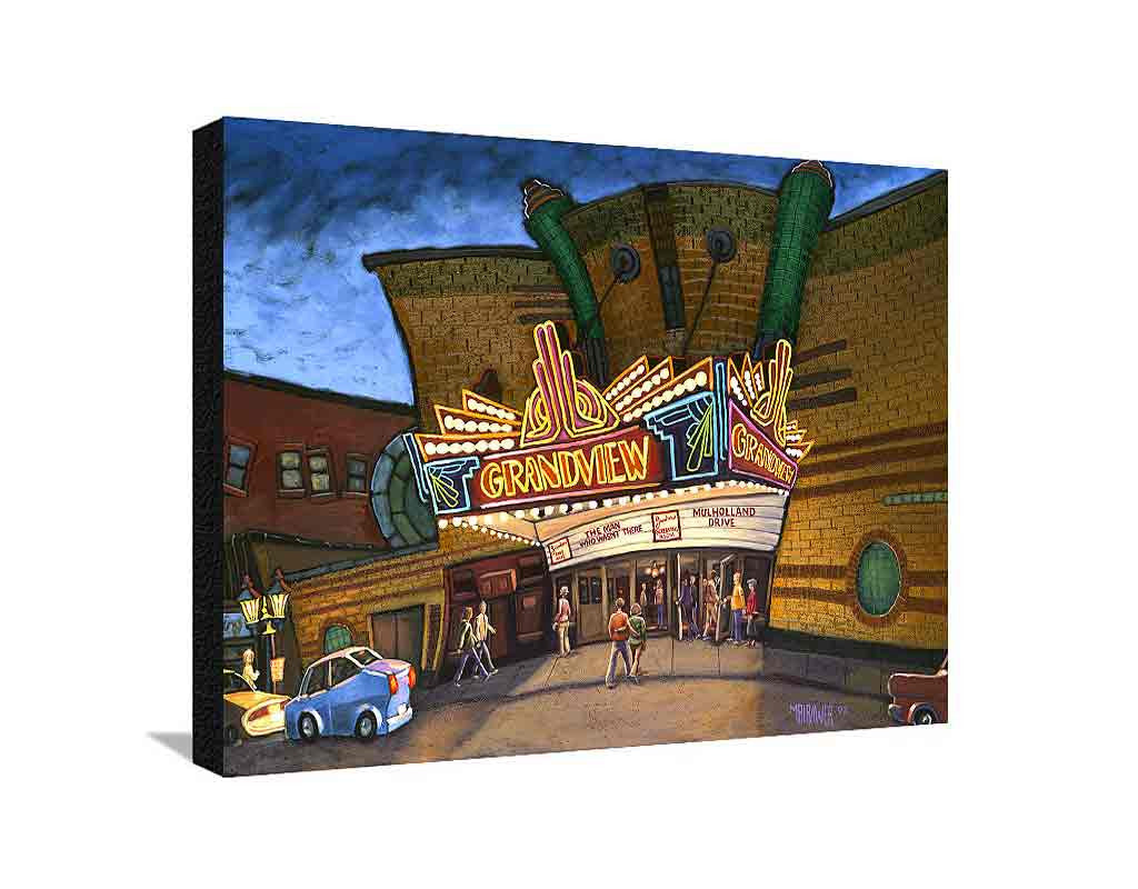 Grandview Theater Large Canvas