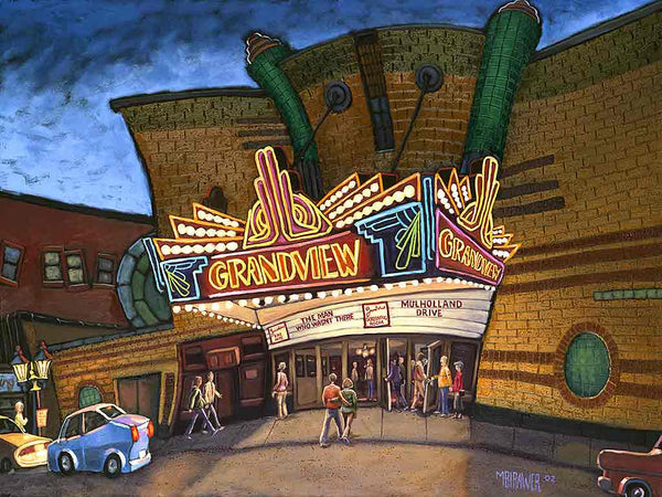 Grandview Theater Original Painting