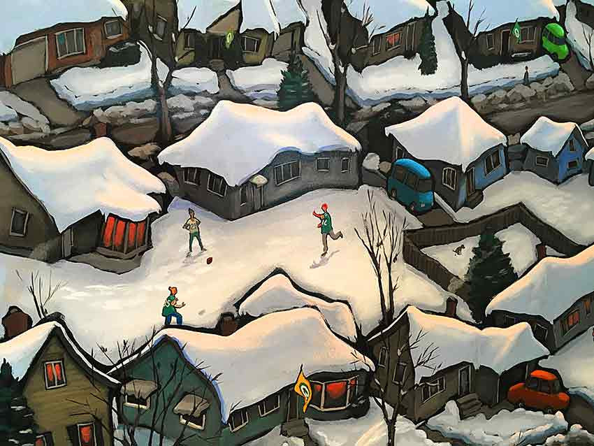 Sunday Afternoon - Green Bay Original Painting