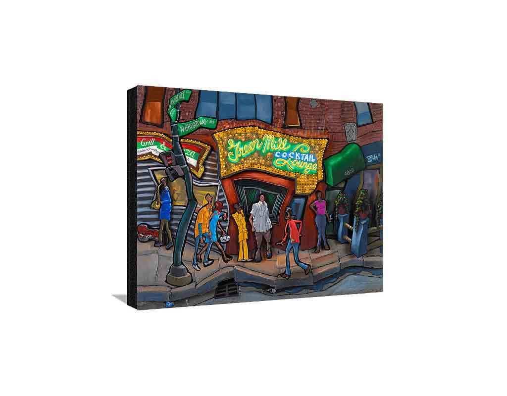 Green Mill Medium Canvas
