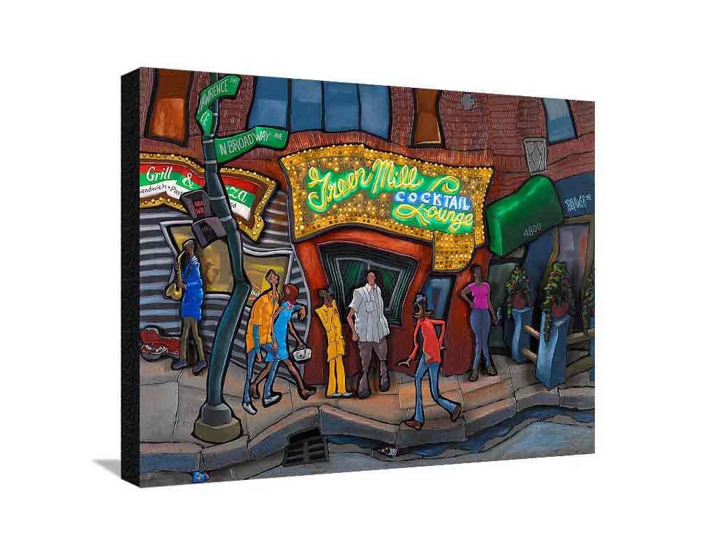 Green Mill Large Canvas