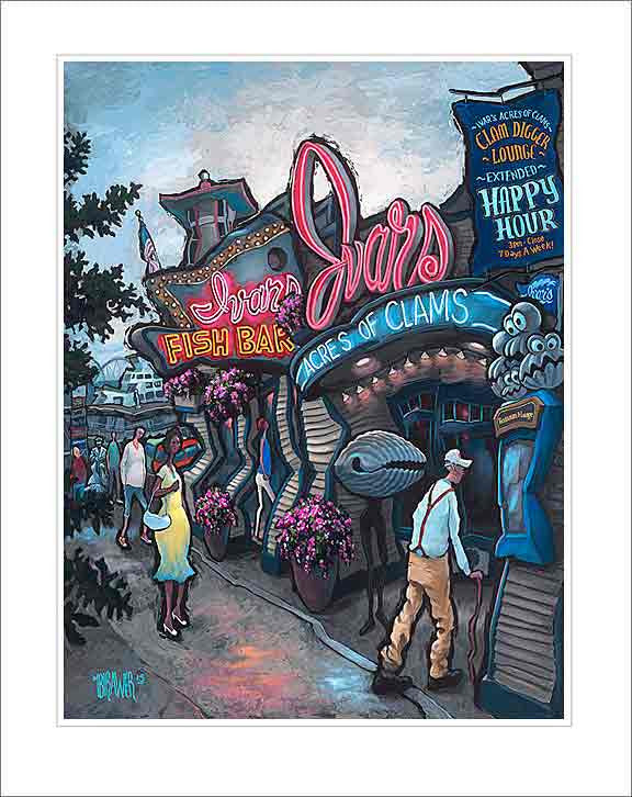 Ivar's Pier 57 Small Canvas