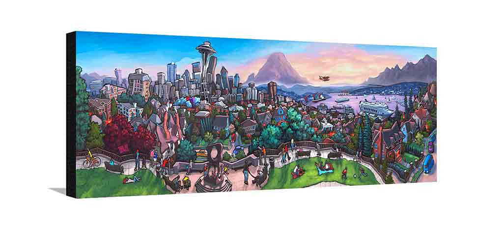 Kerry Park Seattle Large Canvas