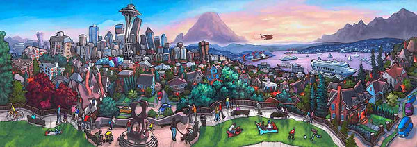 Kerry Park Seattle Original Painting