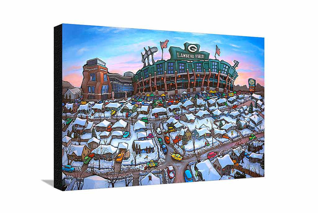Sunday Afternoon Green Bay Large Canvas