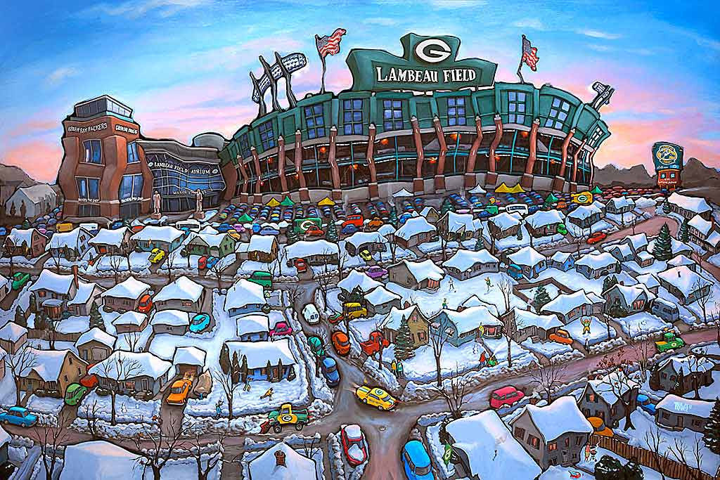 Sunday Afternoon Green Bay Original Painting