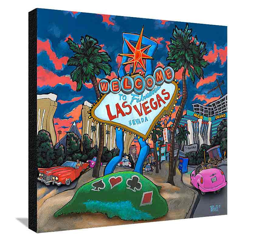 Welcome to Las Vegas XL Canvas