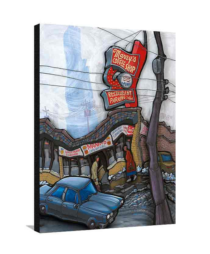 Manny's Deli Large Canvas