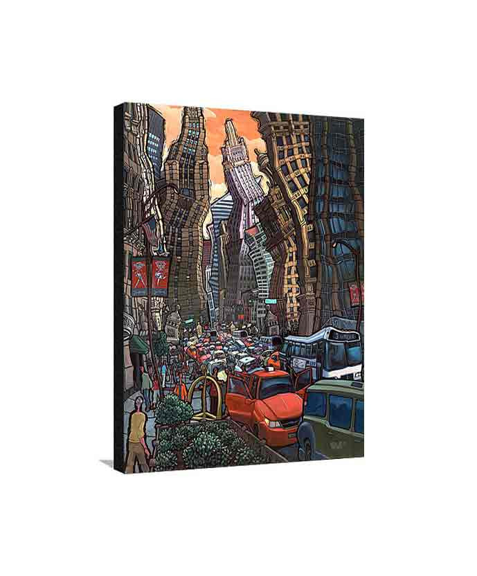 North Michigan Avenue Medium Canvas