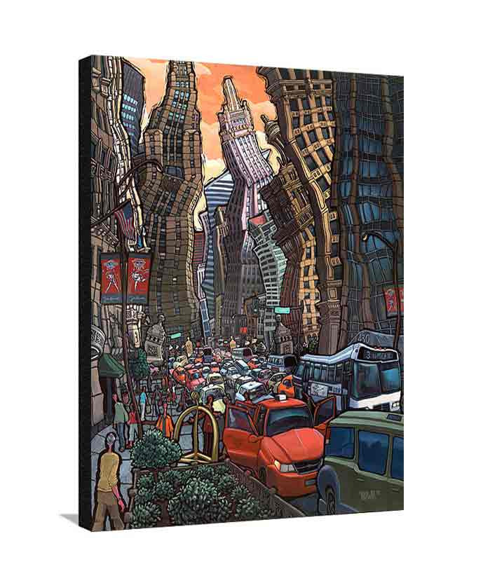 North Michigan Avenue Large Canvas