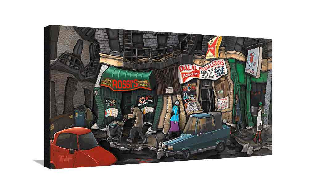North State Street Large Canvas