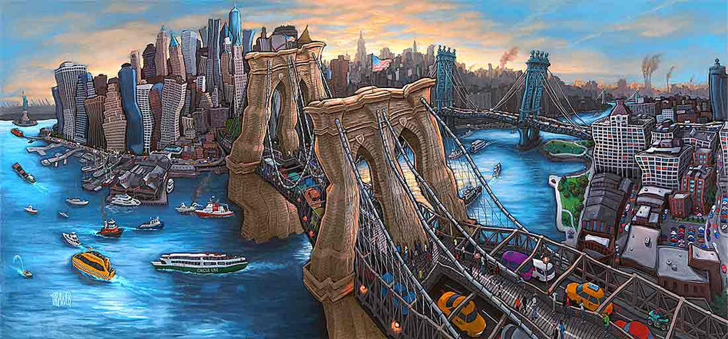 Brooklyn Bridge New York Original Painting