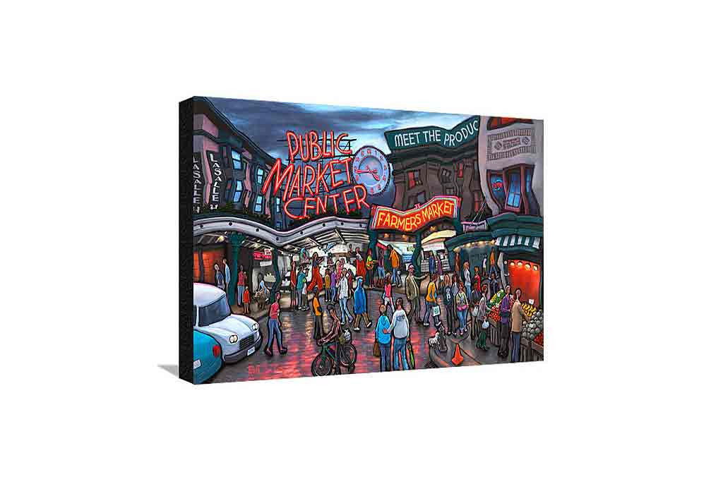 Pike Place Market Seattle Medium Canvas
